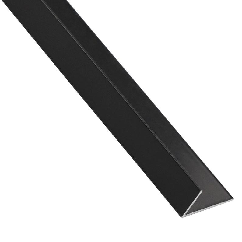 Cornière Inégale Aluminium Anodisé Noir L1 M X L16 Cm X H11 Cm