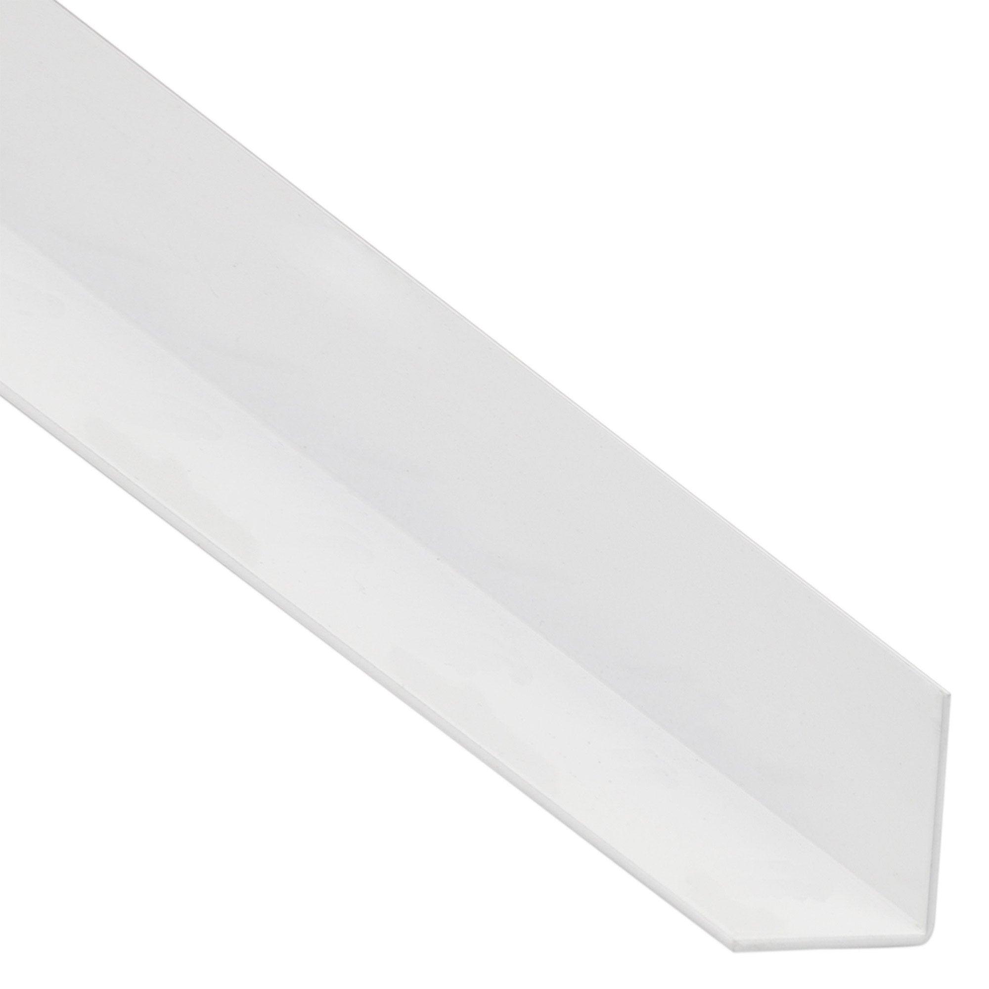 Cornière égale Acier Mat Blanc Perforé L2 M X L355 Cm X H355 Cm