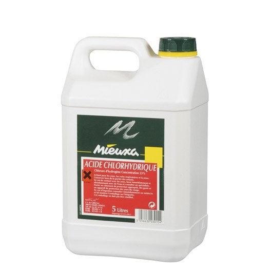 Acide chlorhydrique mieuxa 5 l leroy merlin for Nettoyage a l acide chlorhydrique