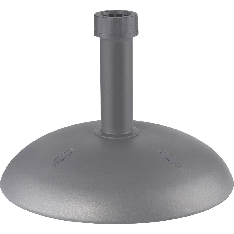 Pied de parasol lesté Albali gris | Leroy Merlin