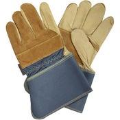 Gants de manutention (gros travaux) GEOLIA bleu et marron, taille 10 / XL