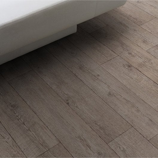 Sol pvc marron farm p can gerflor texline l 4 m leroy for Enlever moquette murale