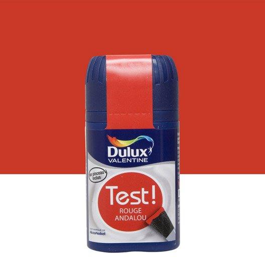 testeur peinture rouge andalou dulux valentine cr me de couleur l leroy merlin. Black Bedroom Furniture Sets. Home Design Ideas