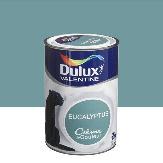 peinture multisupports cr me de couleur dulux valentine vert eucalyptus l leroy merlin. Black Bedroom Furniture Sets. Home Design Ideas