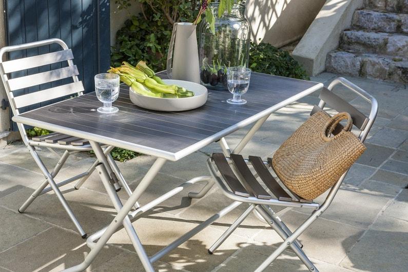 mobilier de jardin boston gris leroy merlin. Black Bedroom Furniture Sets. Home Design Ideas