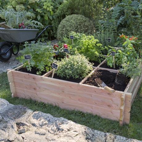 Cultiver avec des carrés de potager