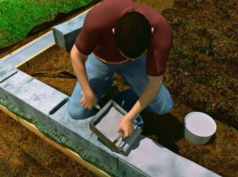comment construire un mur en parpaings coller leroy merlin. Black Bedroom Furniture Sets. Home Design Ideas