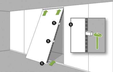Comment monter une cloison en plaques de pl tre - Monter une cloison en placo ...
