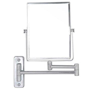 Miroir grossissant x 3 rectangulaire à fixer, H.20.5 x l.15.5 x P.3.5 cm