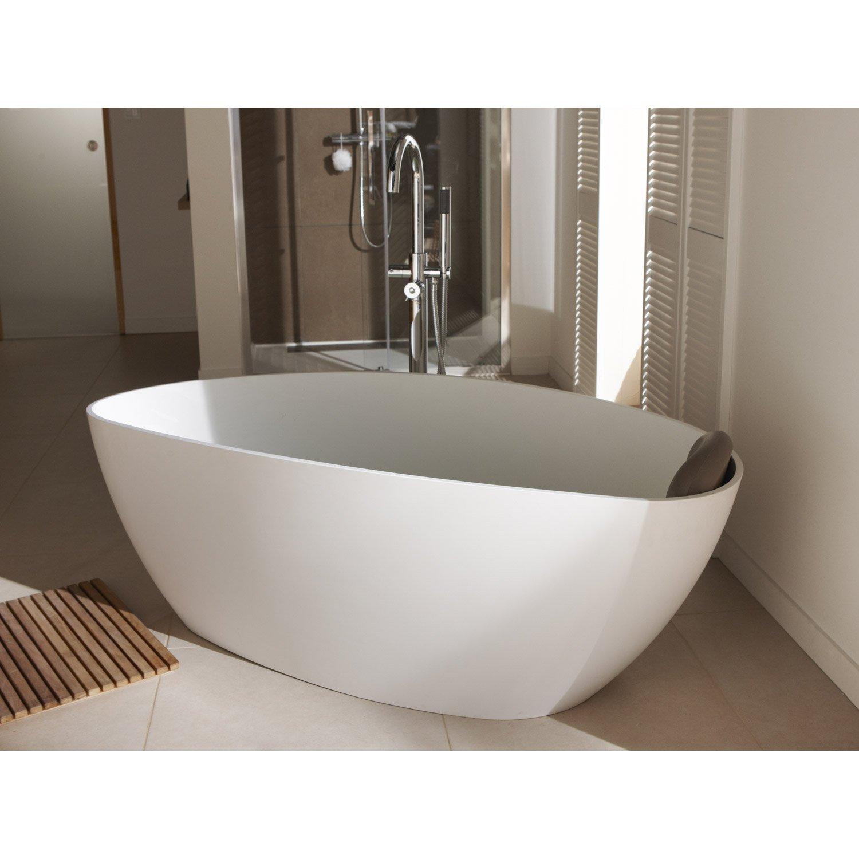 baignoire lot ovale cm blanc mat stori leroy merlin. Black Bedroom Furniture Sets. Home Design Ideas