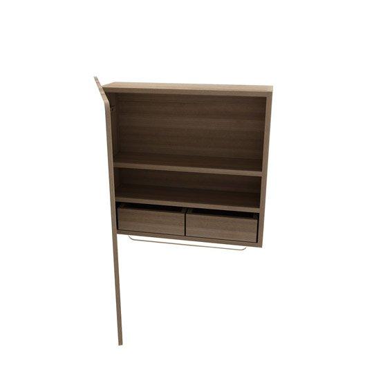 armoire de toilette l 56 2 cm imitation ch ne naturel fairway leroy merlin. Black Bedroom Furniture Sets. Home Design Ideas