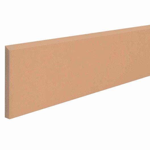 Lot de 2 plinthes couleur terre cuite, l.6.5 x L.35.5 cm | Leroy Merlin