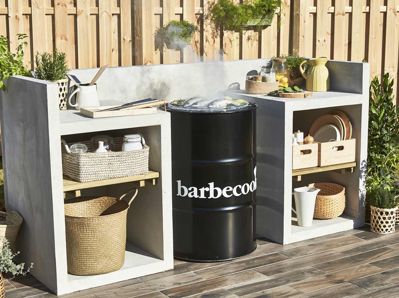 stunning construire un espace barbecue with construire barbecue en beton cellulaire. Black Bedroom Furniture Sets. Home Design Ideas