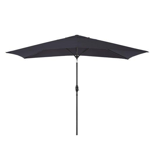 Parasol droit Koeos gris rectangulaire, L.300 x l.200 cm