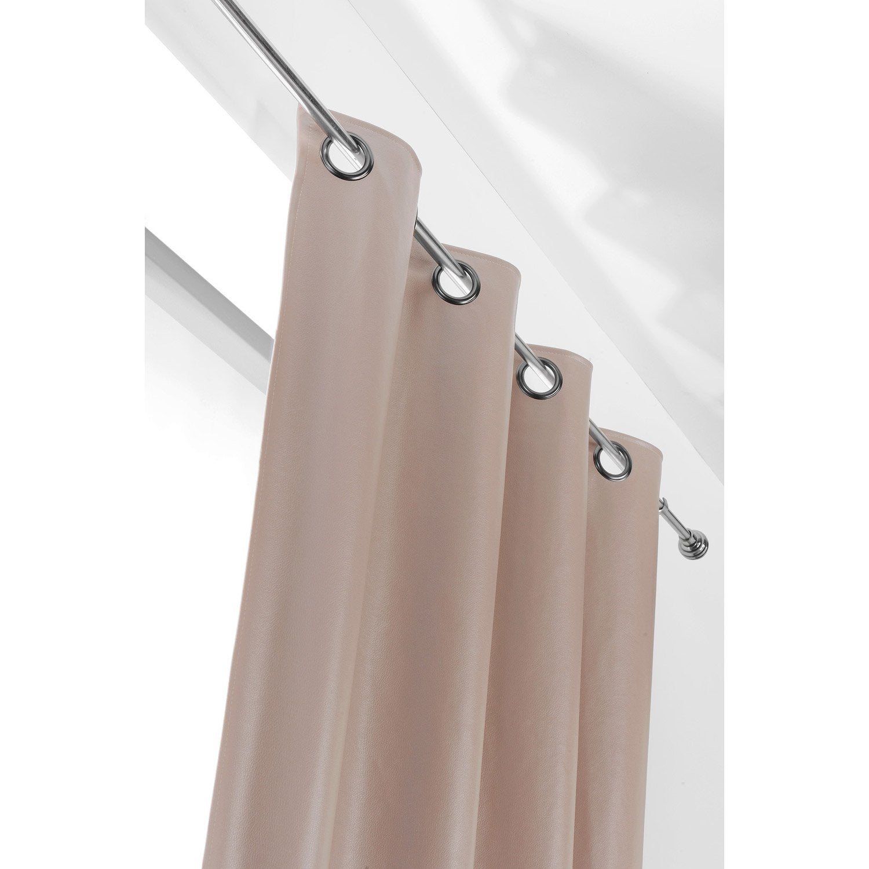 Rideau tamisant, Rideau simili cuir john, mastic, l.135 x H.260 cm ...