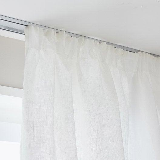 rideau tamisant lineo galon fronceur blanc x h. Black Bedroom Furniture Sets. Home Design Ideas