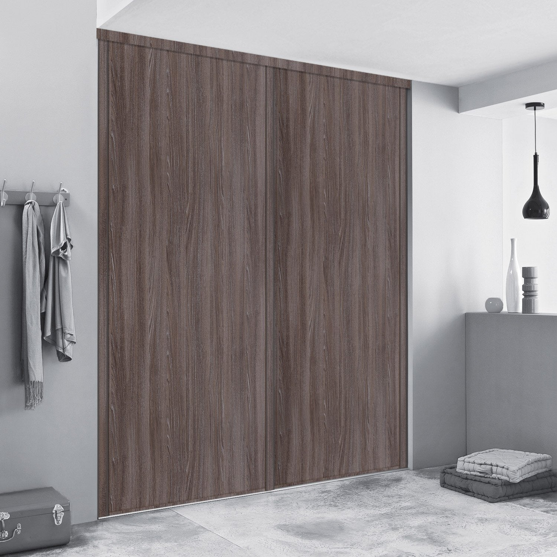 porte de placard coulissante sur mesure spaceo traditionnel de 60 1 80 cm leroy merlin. Black Bedroom Furniture Sets. Home Design Ideas