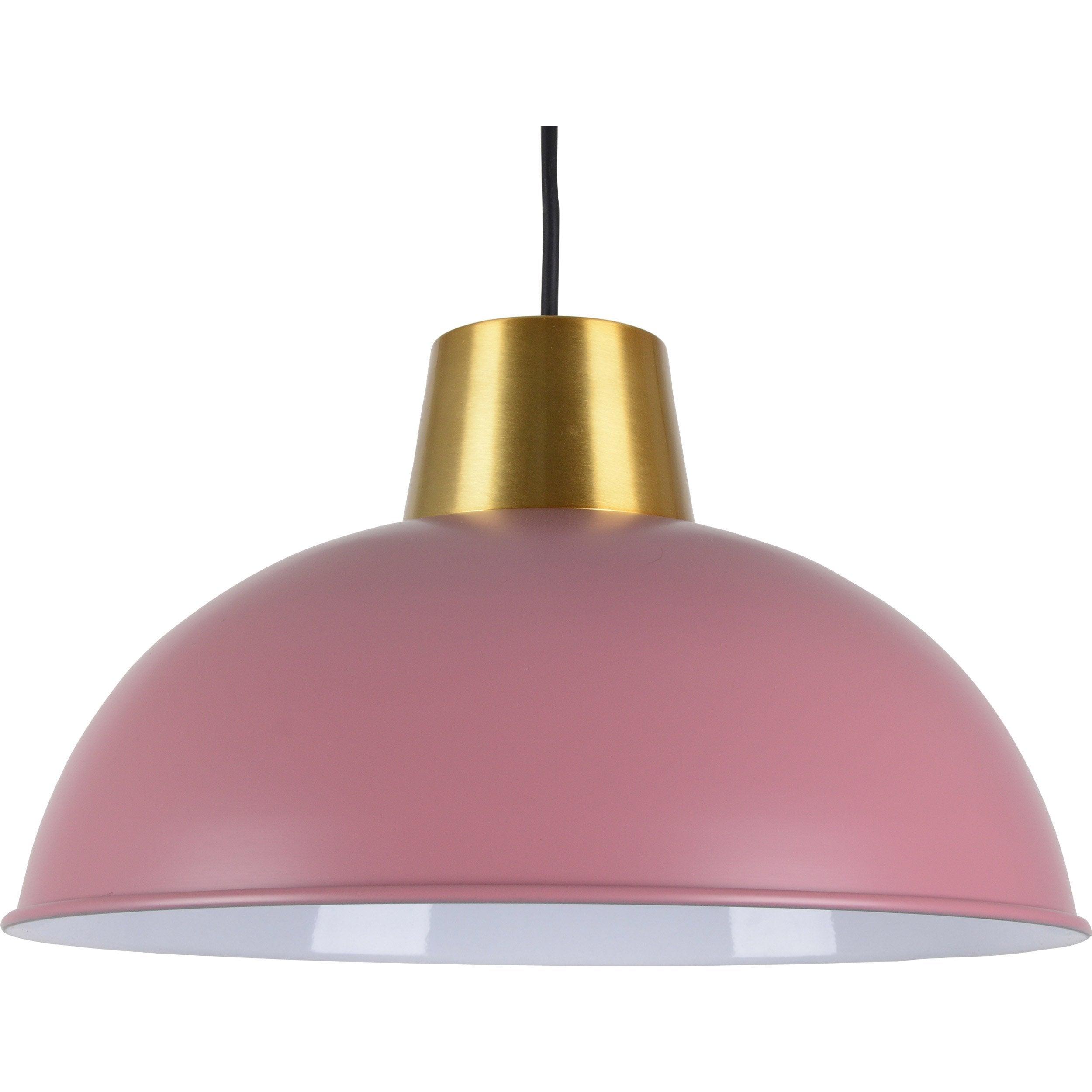 Suspension, charme métal rose/laiton BOUDET Marsdor 1 lumière(s) D.31 cm