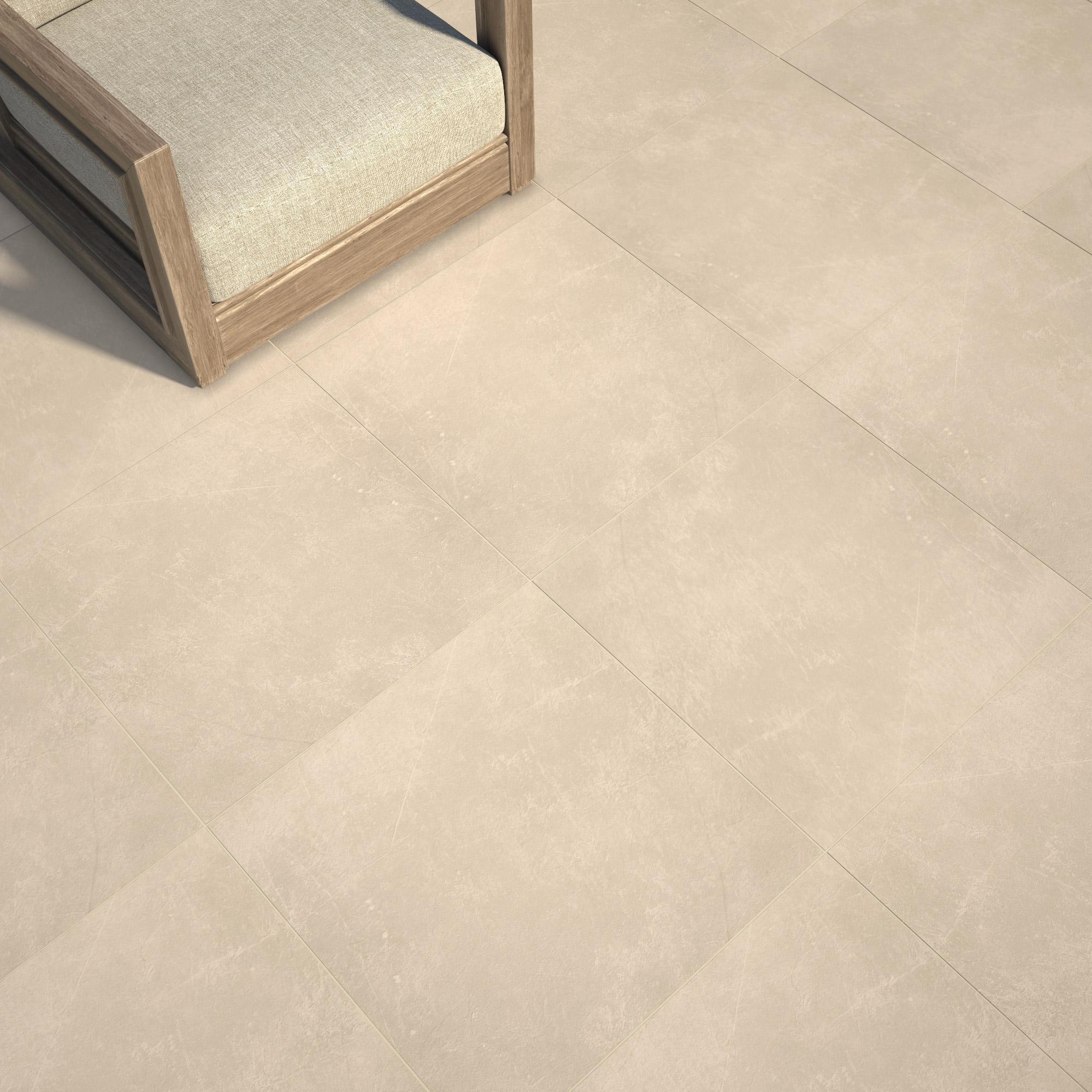 Carrelage sol et mur intenso pierre beige Sicile l.30 x L.60 cm GRAND DESIR - SU