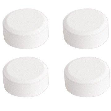 Lot de 4 pattes à glace, rond, blanc laqué