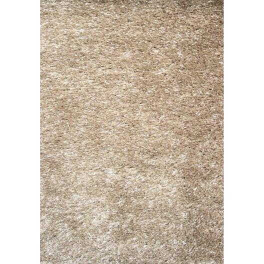tapis beige shaggy zelia x cm leroy merlin. Black Bedroom Furniture Sets. Home Design Ideas