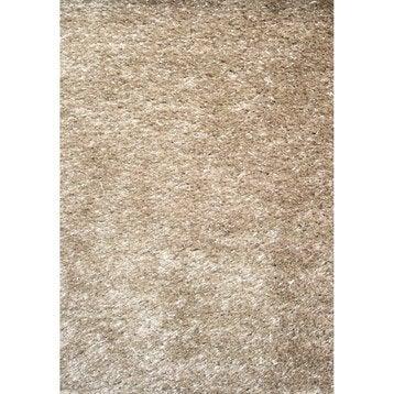 tapis shaggy zelia beige 230x160 cm. Black Bedroom Furniture Sets. Home Design Ideas