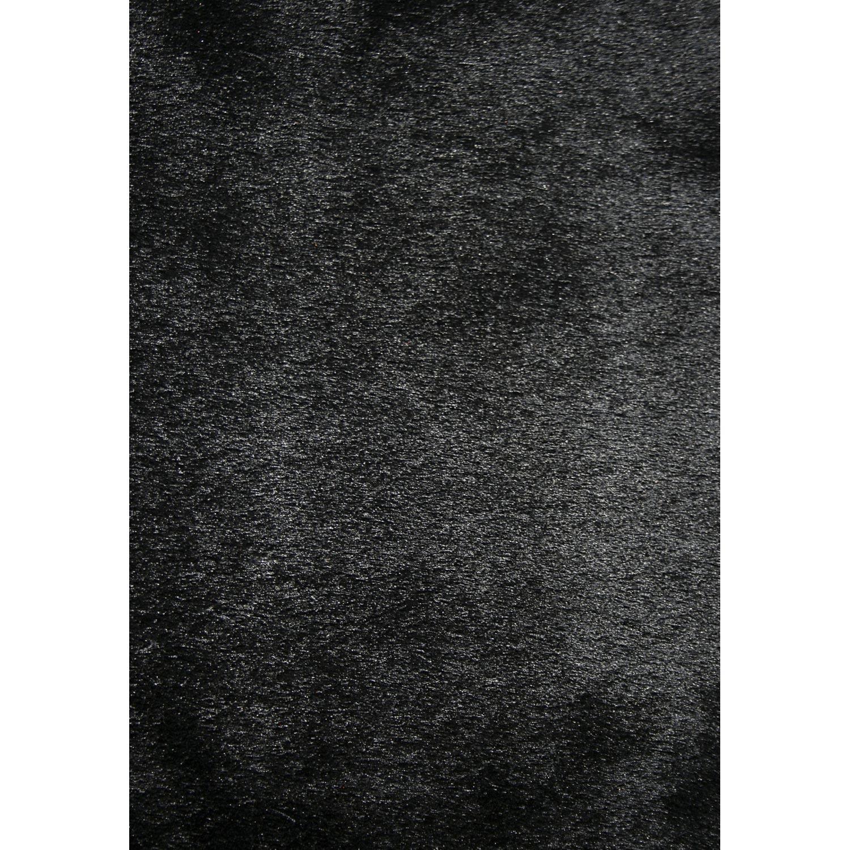 tapis noir shaggy zelia l160 x l230 cm - Tapis Noir