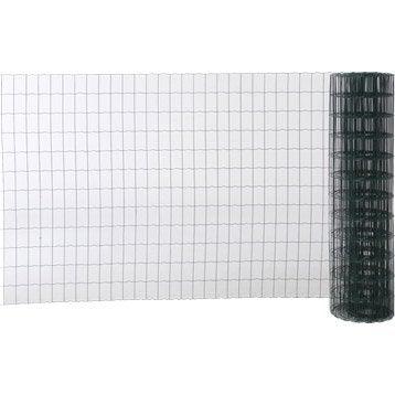Grillage soudé vert H.1.2 x L.20 m, maille de H.100 x l.63 mm