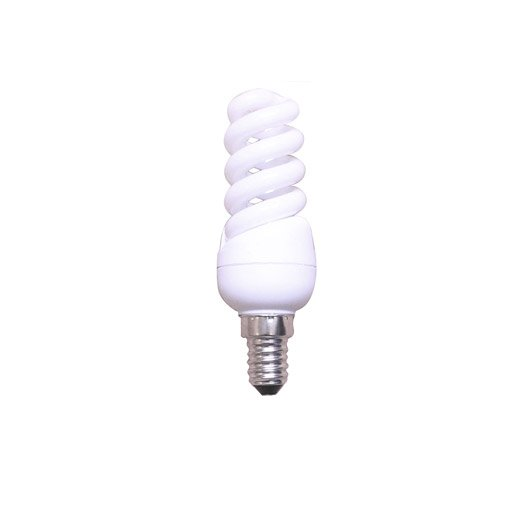 Ampoule spirale fluorescente 9w 432lm quiv 40w e14 - Ampoule lumiere du jour leroy merlin ...