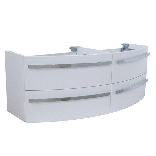 meuble sous vasque x x cm blanc image leroy merlin. Black Bedroom Furniture Sets. Home Design Ideas