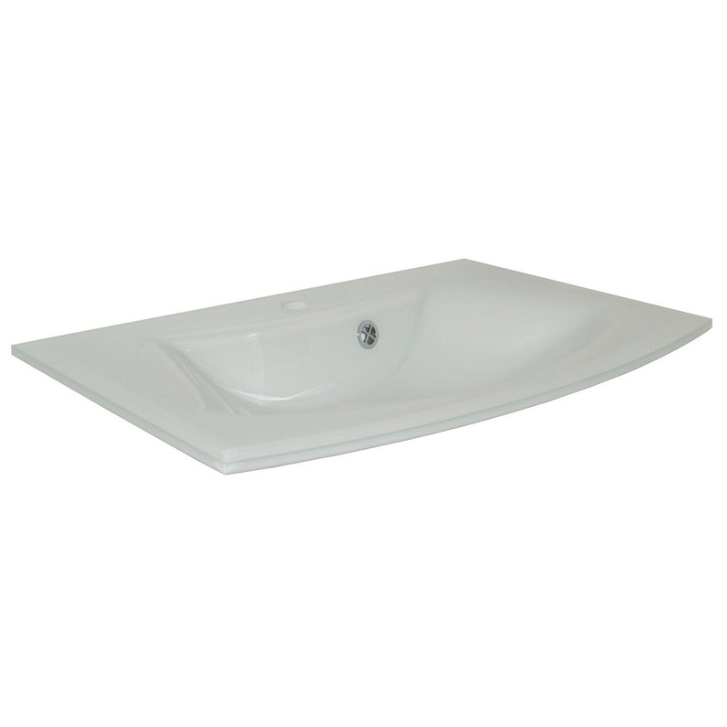 Plan vasque simple Image Verre 71.5 cm