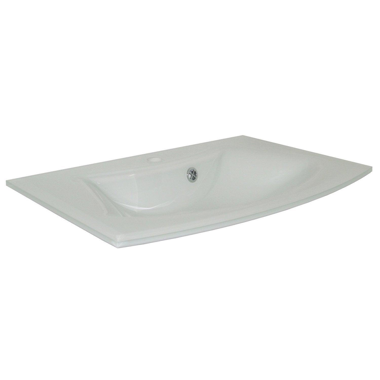 De Haute Qualite Plan Vasque Simple Image Verre 71.5 Cm ...