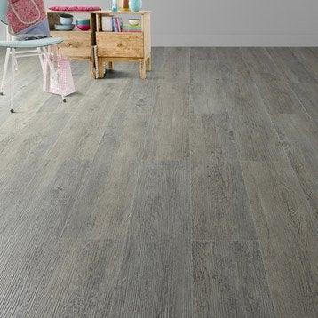 Lame PVC clipsable gris effet bois pécan Camden ARTENS