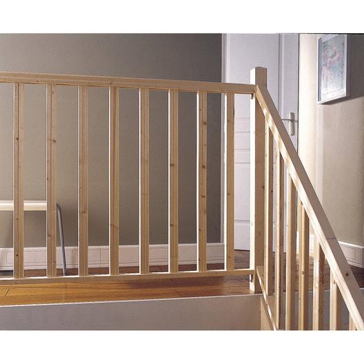 kit balustrade bois sapin brut leroy merlin. Black Bedroom Furniture Sets. Home Design Ideas