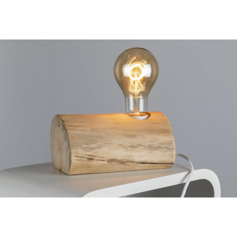 Lampe, charme romantique, bois marron, MATHIAS Wald