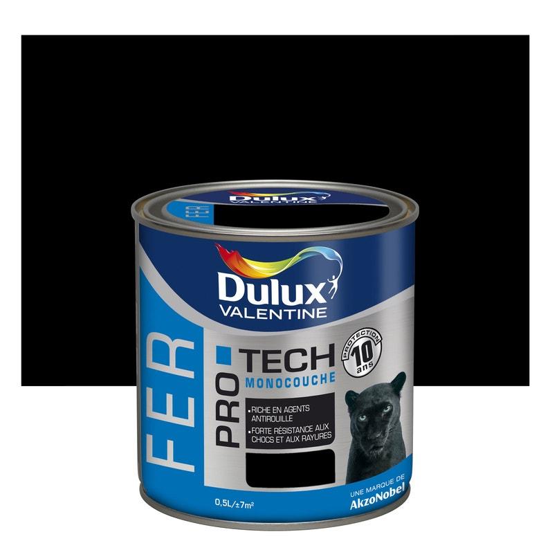 Peinture Fer Extérieur Protech Dulux Valentine Noir Mat 05 L