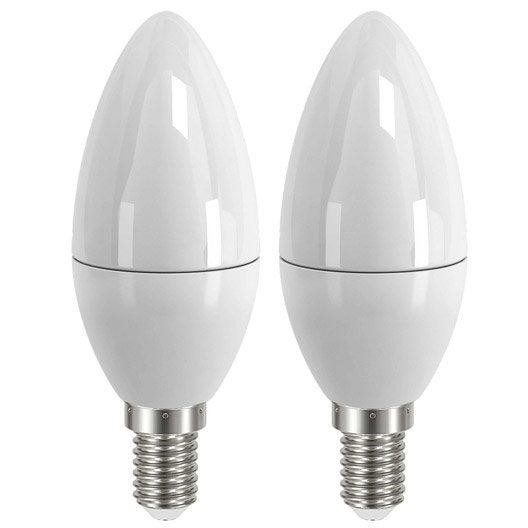 Lot de 2 ampoules flammes led 4w 250lm quiv 25w e14 3000k 150 lexman - Lustre multi ampoules ...