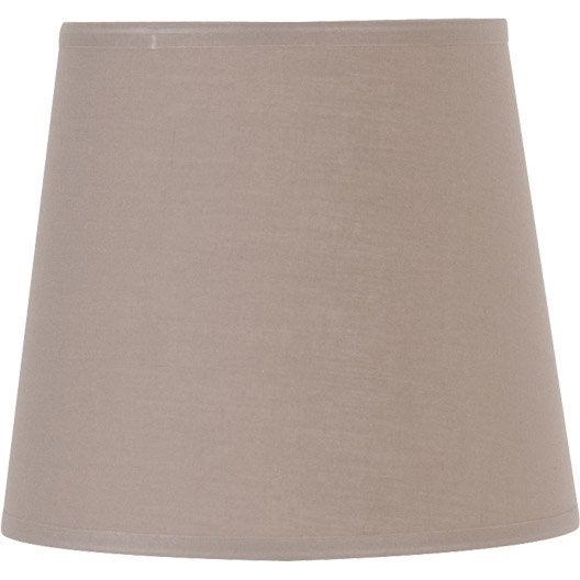 abat jour conique 22 cm toiline brun taupe n 3 inspire leroy merlin. Black Bedroom Furniture Sets. Home Design Ideas