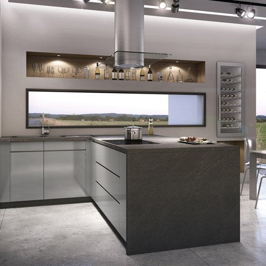Meuble de cuisine ingenious composition type albe leroy for Panneaux muraux cuisine leroy merlin