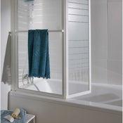 Pare-baignoire 2 volets verre de sécurité 3 mm sérigraphié, Lm 104