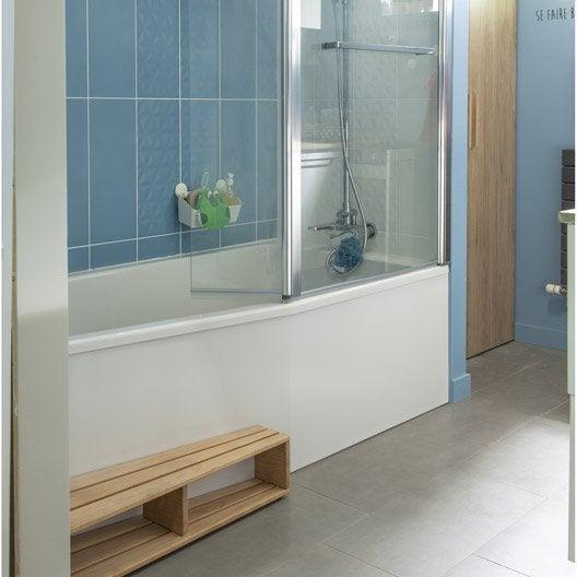 baignoire porte baignoire douche salle de bains ForSalle De Bain Douche Et Baignoire Leroy Merlin