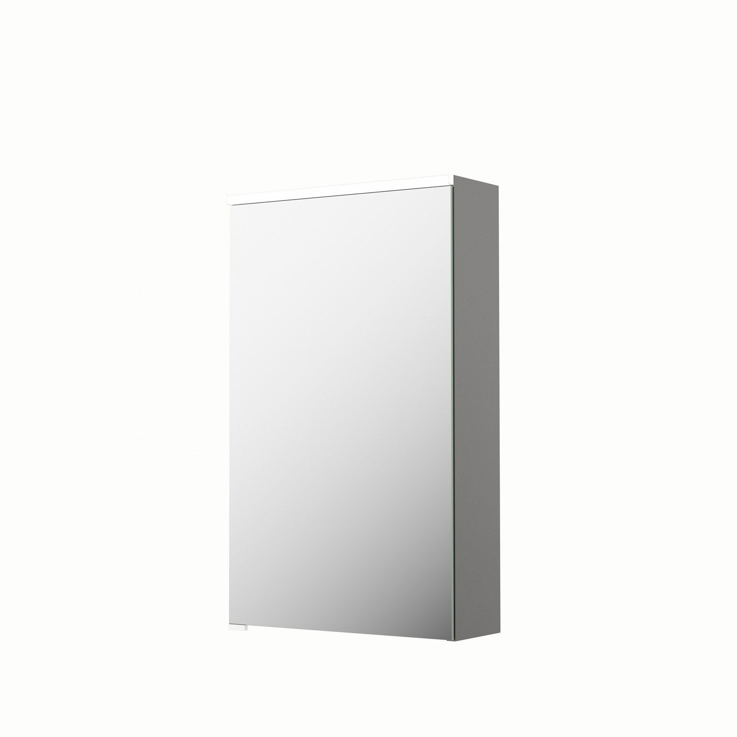 armoire de toilette lumineuse l 45 cm gris sensea neo leroy merlin. Black Bedroom Furniture Sets. Home Design Ideas