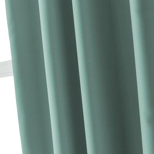rideau occultant blackout bleu baltique n 4 x cm inspire leroy merlin. Black Bedroom Furniture Sets. Home Design Ideas