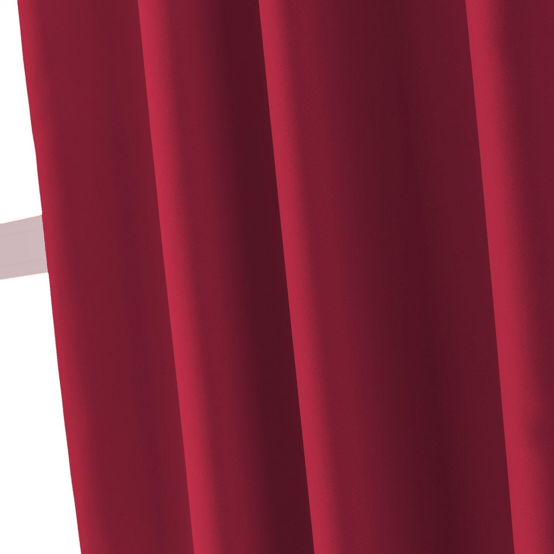 Rideau Occultant Blackout Rouge Rouge N 3 L 200 X H 260 Cm