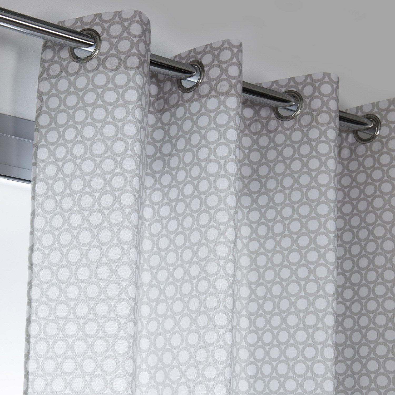 rideau tamisant rolli gris galet x cm leroy merlin. Black Bedroom Furniture Sets. Home Design Ideas
