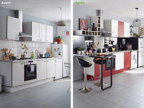 Avant apr s relooker une cuisine en 48h leroy merlin - Relooker sa cuisine avant apres ...