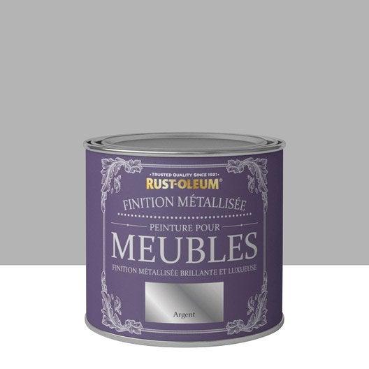 Peinture pour meuble objet et porte poudr rustoleum argent 0 5 l leroy merlin - Peinture a l ancienne pour meuble ...