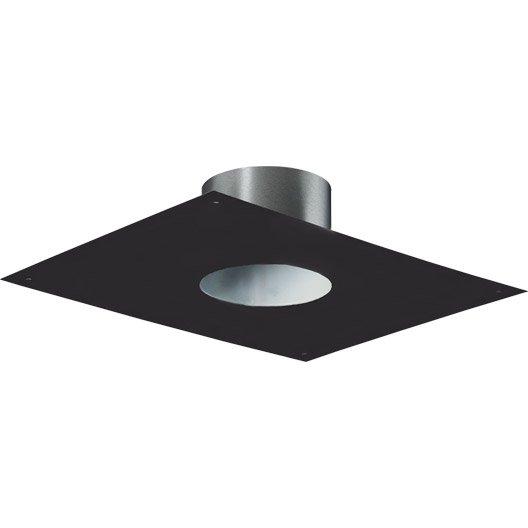 plaque de finition 30x40 cm pour tubage poujoulat mm noir leroy merlin. Black Bedroom Furniture Sets. Home Design Ideas