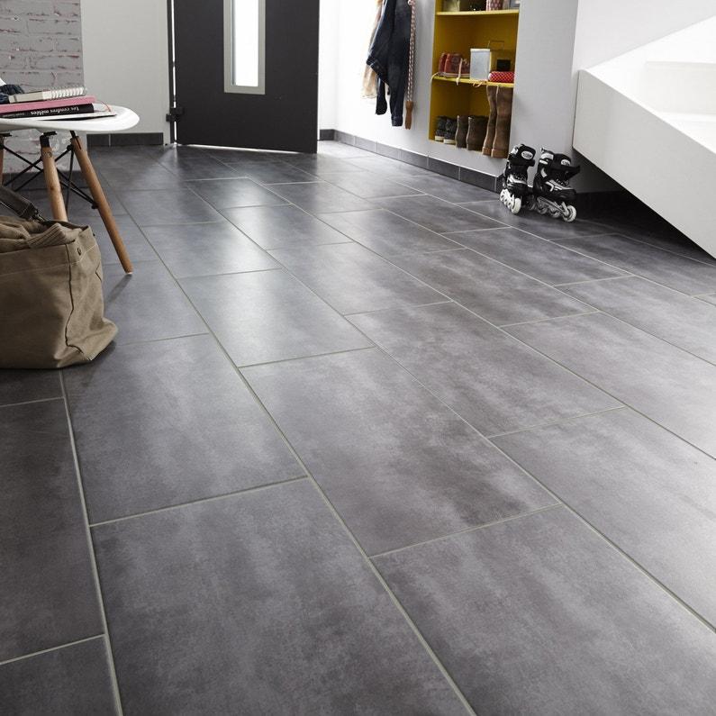 Carrelage sol et mur forte effet béton gris Camden l.30.8 x L.61.5 cm ARTENS
