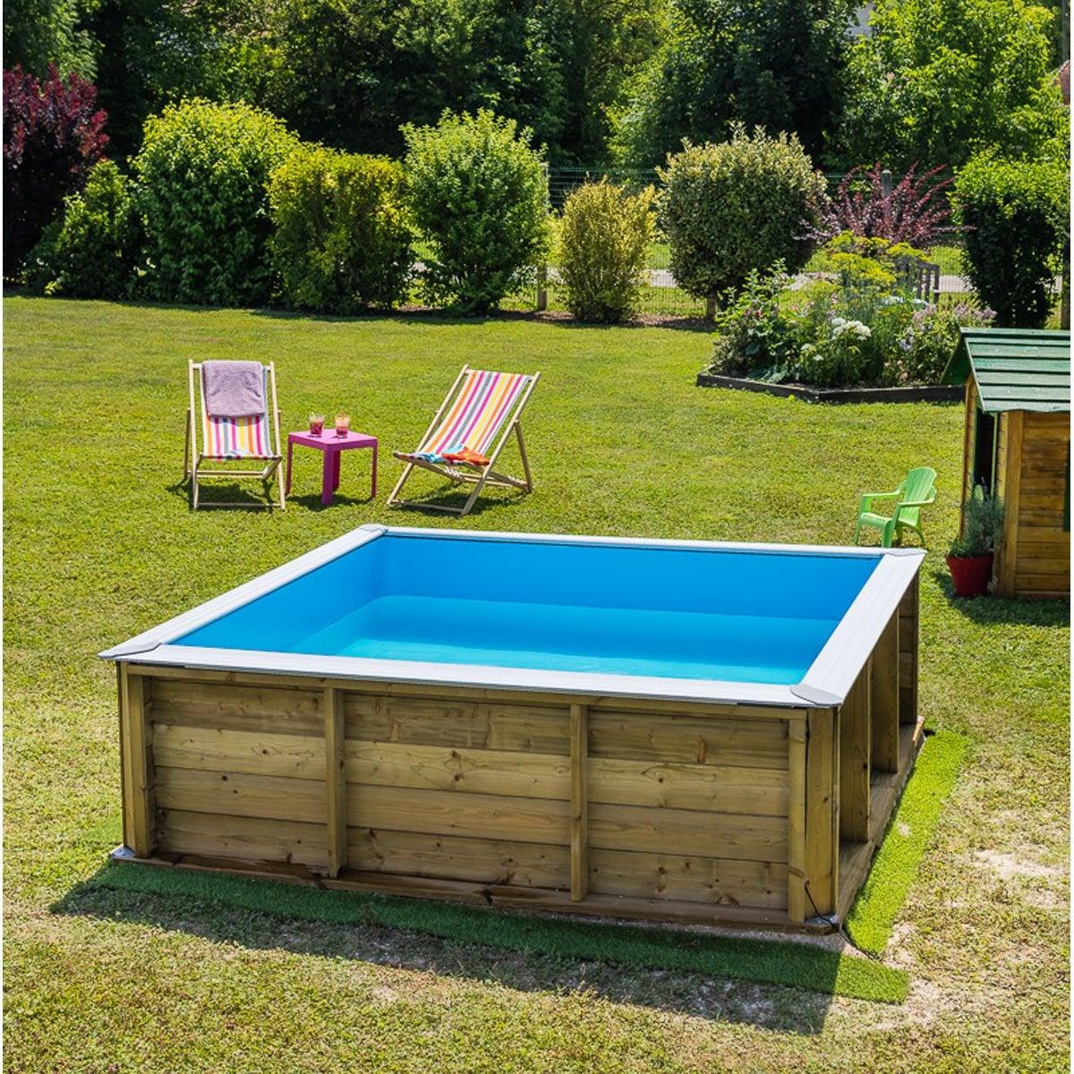 piscine bois pistoche bwt mypool l226 x l226 x h067